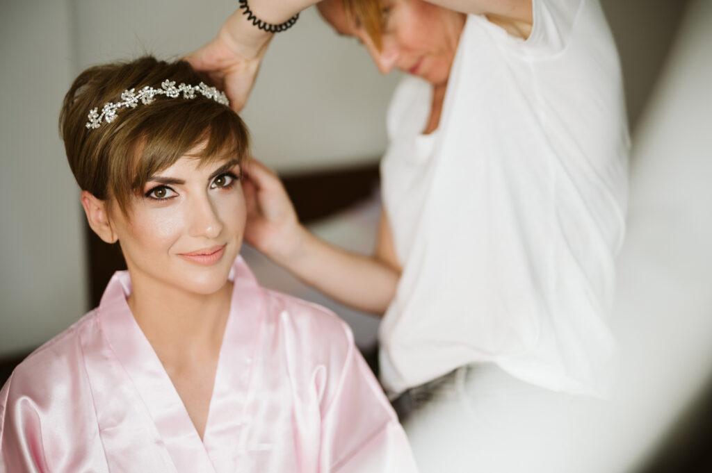 φωτογράφος προετοιμασία νύφης