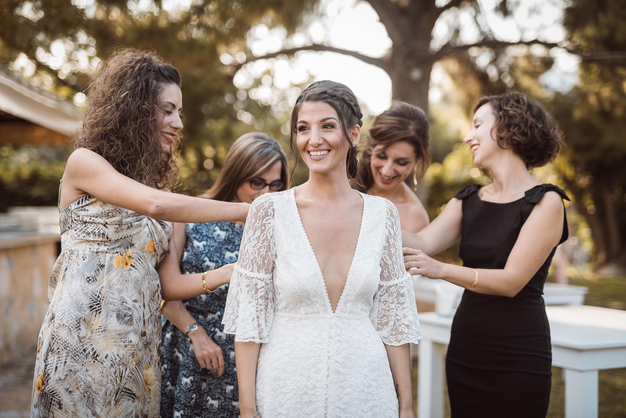 προετοιμασία νύφης νυφικό